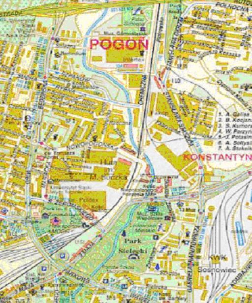Mapa 5. Czarna Przemsza: Od granicy Sosnowca do ulicy 3Maja.