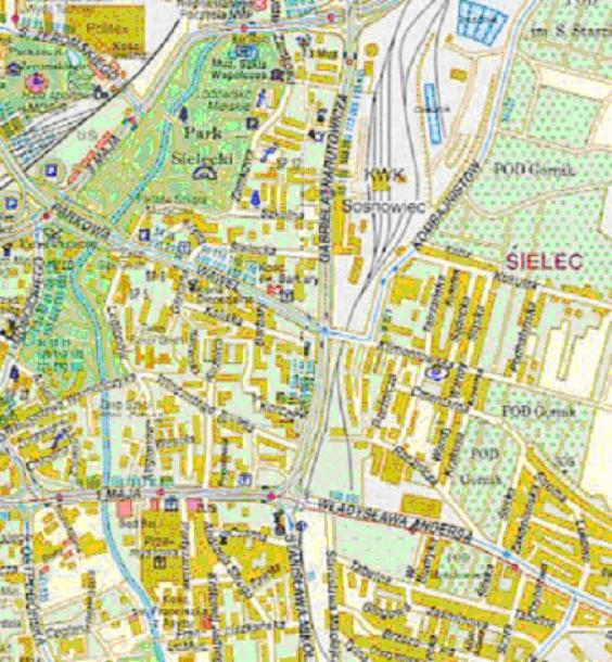 Mapa 6. Czarna Przemsza: Od ulicy 3 Maja do ulicy 1Maja.