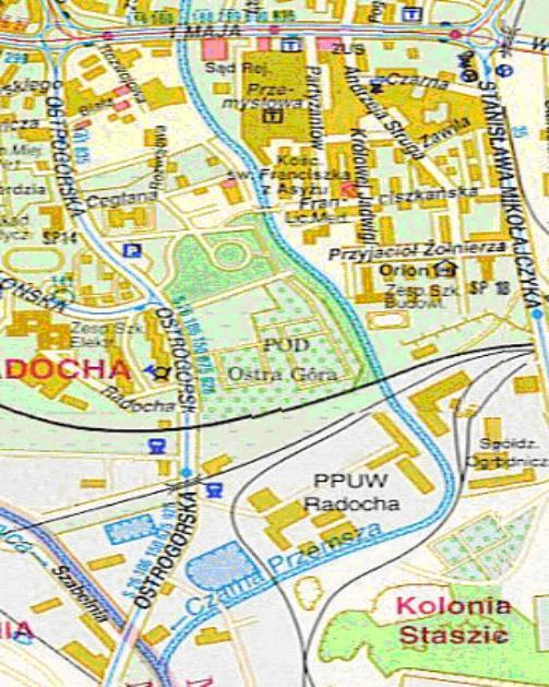 Mapa 7. Czarna Przemsza: Od ulicy 1 Maja do Brynicy.