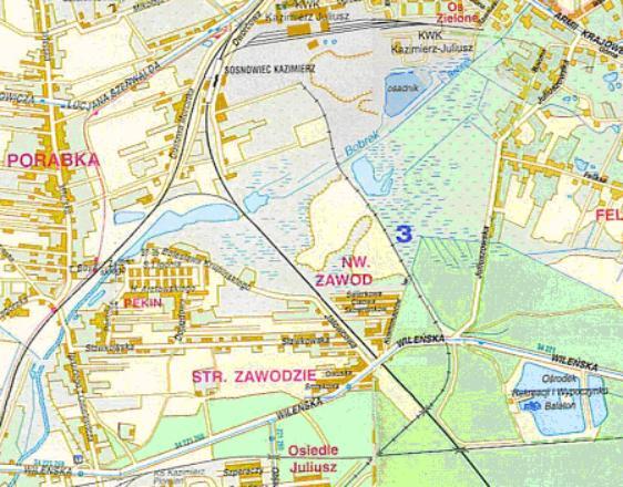 Mapa 12. Bobrek: Od ulicy Armii Krajowej do Wileńskiej.
