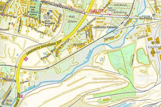 Mapa 13. Bobrek: Od ulicy Wileńskiej do Okulickiego.