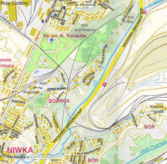 Mapa 14. Bobrek: Od ulicy Okulickiego do Tuwima.