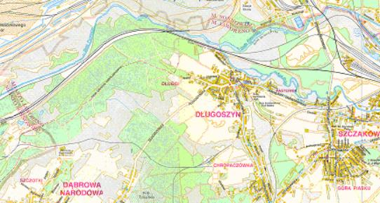 Mapa 18. Biała Przemsza: Od ulicy Krakowskiej do połączenia z Bobrkiem. Część wschodnia.
