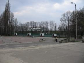 Zdjęcie 5. Brynica. Stadion Zagłębia z szerokiego mostu.